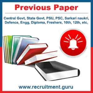 Previous Year Question Paper - UPSC, CPSE, SSC, IBPS, RRB Pdf