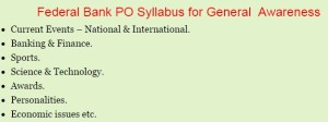 Federal Bank PO Previous Papers   Download Federal Bank Clerk Model Papers