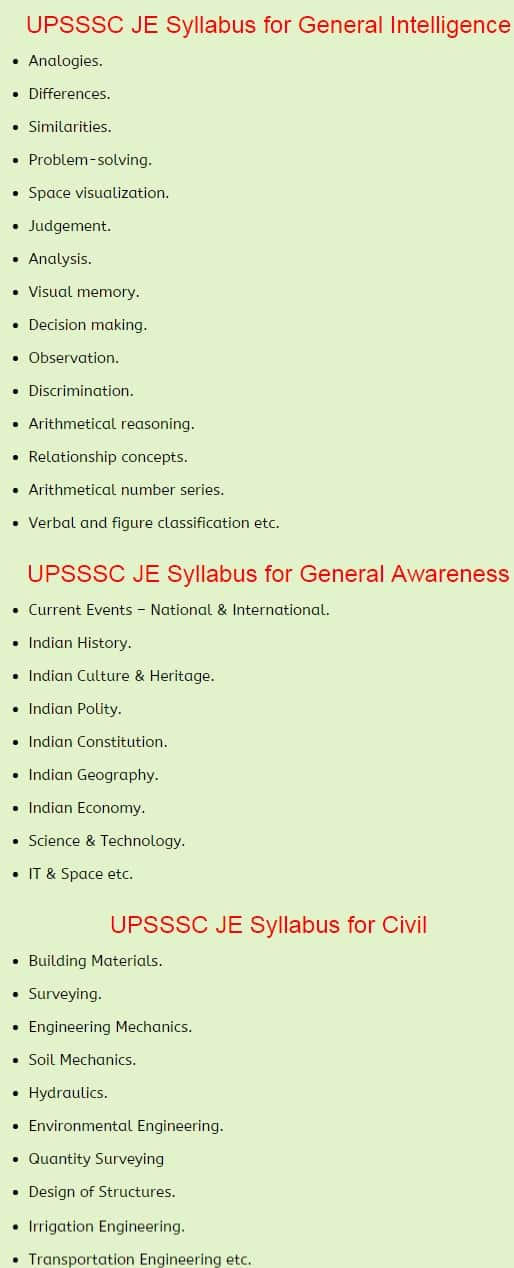 UPSSSC Junior Engineer Previous Papers   UPSSSC JE Old Papers