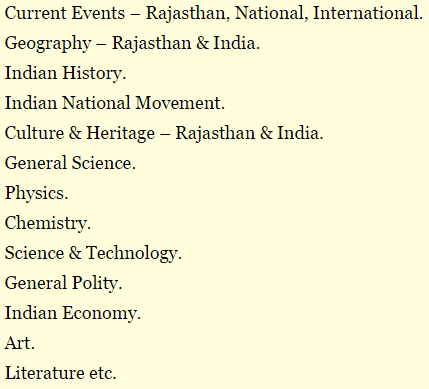 Rajasthan Forest Guard Syllabus 2015 Pdf
