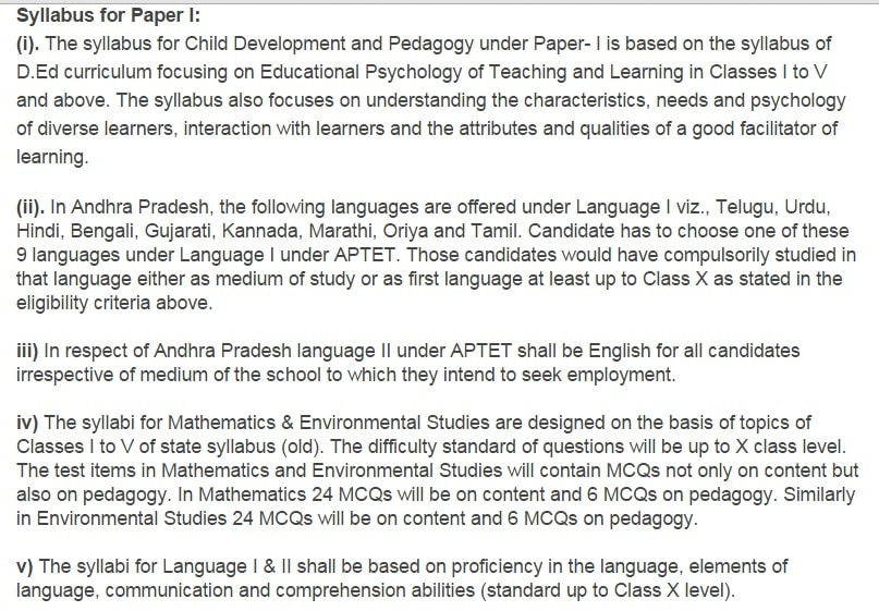 Telangana TET Syllabus 2017   TS Teacher Eligibility Test Exam Pattern   tstet.cgg.gov.in