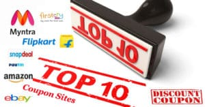 Top 10 Coupon Sites 2016 | Populor Coupon websites to get Best Shopping deals in India