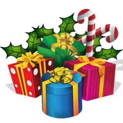 Merry Christmas Gifts Clipart
