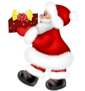 Santa_Claus_with_Red_Present_PNG_Clipart