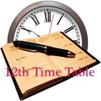 12th Time Table 2017, 10+2/ Plus 2/ HSC Exam Schedule 2017