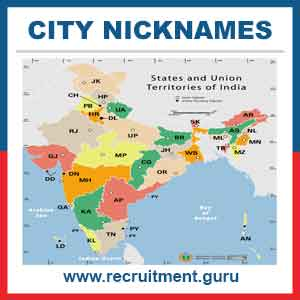 List of Cities in India with the Nick Names