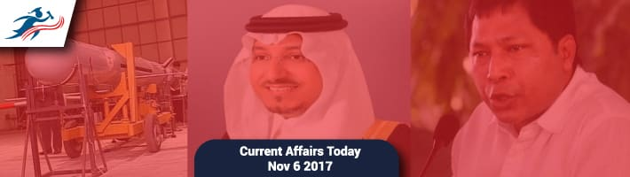 Current Affairs Today   6th November | Current Affairs November