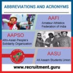 Table of Basic and Important Abbreviations and Acronyms