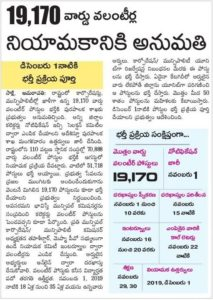 AP Grama Volunteer Recruitment 2019: 19,170 Remaining Vacancies | Application Form Available Here